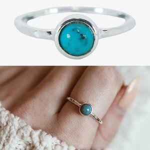 🆕 Pura Vida Boho Turquoise & 925 Silver Ring Size 7